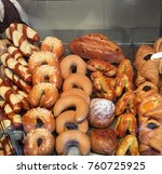 austrian or viennese bakery ...   Shutterstock . vector #760725925