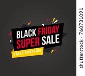 black friday style background...   Shutterstock .eps vector #760731091
