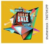 vector abstract 3d great sale... | Shutterstock .eps vector #760734199