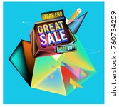 vector abstract 3d great sale... | Shutterstock .eps vector #760734259