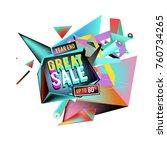 vector abstract 3d great sale... | Shutterstock .eps vector #760734265