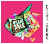 vector abstract 3d great sale... | Shutterstock .eps vector #760734295