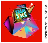 vector abstract 3d great sale... | Shutterstock .eps vector #760734355
