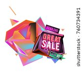 vector abstract 3d great sale... | Shutterstock .eps vector #760734391