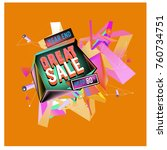 vector abstract 3d great sale... | Shutterstock .eps vector #760734751