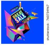 vector abstract 3d great sale...   Shutterstock .eps vector #760734967