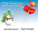 merry christmas happy new year   Shutterstock .eps vector #760735381