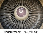 turbine blades   close up | Shutterstock . vector #760741531