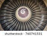 turbine blades   close up | Shutterstock . vector #760741531