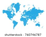 map of world. high detailed... | Shutterstock .eps vector #760746787