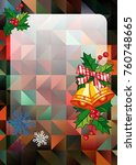 christmas  holiday background...   Shutterstock .eps vector #760748665
