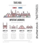 india travel infographics with... | Shutterstock .eps vector #760753021