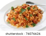 jambalaya   creole rice dish   Shutterstock . vector #76076626