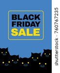 black friday sale poster with... | Shutterstock .eps vector #760767235