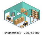 isometric 3d vector... | Shutterstock .eps vector #760768489