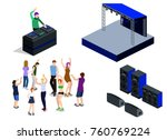 isometric 3d vector collection...   Shutterstock .eps vector #760769224