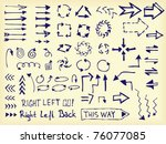 set of hand drawn arrows | Shutterstock .eps vector #76077085