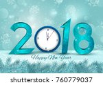 happy new year 2018 wishes... | Shutterstock .eps vector #760779037