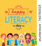 happy literacy day colorful... | Shutterstock .eps vector #760783525