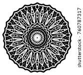 round mandalas with flower...   Shutterstock .eps vector #760787317