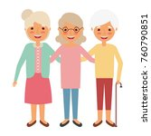 cute group the grandmothers... | Shutterstock .eps vector #760790851