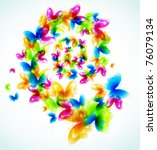 abstract  background with...   Shutterstock .eps vector #76079134