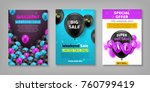 sticker  voucher  poster black... | Shutterstock .eps vector #760799419