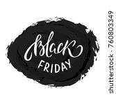 black friday sale poster for... | Shutterstock .eps vector #760803349