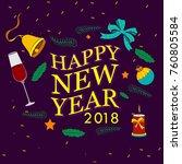 vector design of happy new year ... | Shutterstock .eps vector #760805584