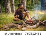 summer vacation  activity. man... | Shutterstock . vector #760812451