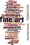 fine art word cloud concept.... | Shutterstock .eps vector #760813135