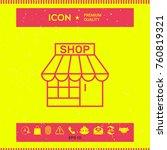 shop icon symbol   Shutterstock .eps vector #760819321