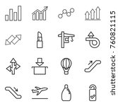 thin line icon set   graph ... | Shutterstock .eps vector #760821115