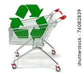 recycling symbol in a  shopping ... | Shutterstock . vector #76082839