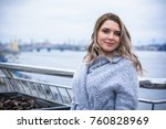 a woman of plus size  american... | Shutterstock . vector #760828969