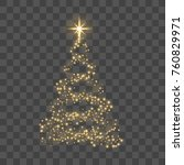 christmas tree on transparent... | Shutterstock .eps vector #760829971
