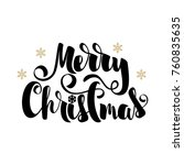 merry christmas text decorated... | Shutterstock .eps vector #760835635