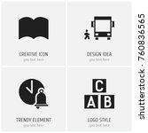 set of 4 editable teach icons....