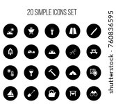 set of 20 editable travel icons.... | Shutterstock .eps vector #760836595