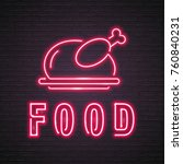 food and chicken neon light...