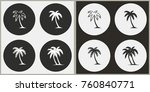 palm tree   black and white... | Shutterstock .eps vector #760840771