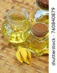 ylang ylang flower and ylang... | Shutterstock . vector #760840879