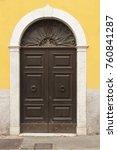 wooden italian door | Shutterstock . vector #760841287