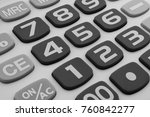 Calculator Keyboard Close Up