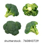 set of broccoli florets...   Shutterstock . vector #760843729