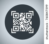 the code of the qr  the... | Shutterstock .eps vector #760847599