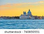 sunset in venice | Shutterstock . vector #760850551