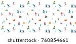 winter sport scene  christmas... | Shutterstock .eps vector #760854661