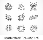 logo set   technology ... | Shutterstock .eps vector #760854775