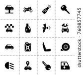 simple 16 set of car filled... | Shutterstock .eps vector #760857745
